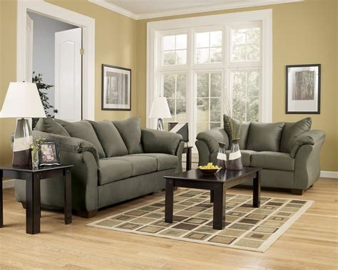 Loveseat And Ottoman Set by Darcy Collection 75003 Sofa Loveseat Set
