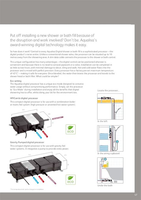 Wiring For Digital Shower by Aqualisa Brochure At Taps4less