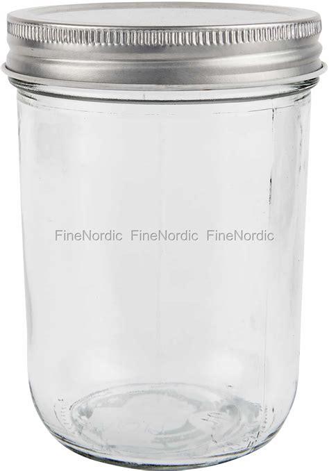 ib laursen glass jar  silver lid  ml