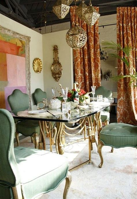 bohemian style dining rooms