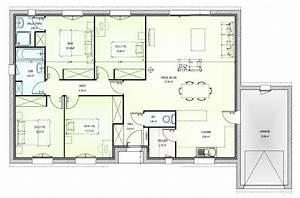 plan maison 4 pieces plain pied immobilier pour tous With plan maison 5 pieces