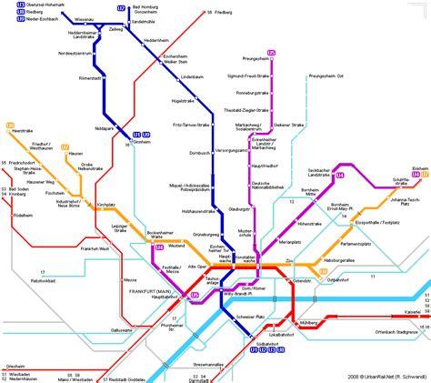ouvrir chambre d hotes en francfort sur le carte du métro carte détaillée