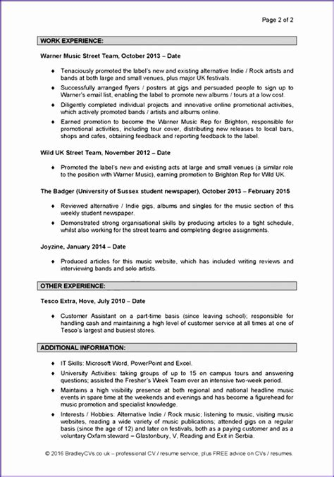 Exle Of Excellent Cv by 6 Excellent Cv Template Exceltemplates Exceltemplates