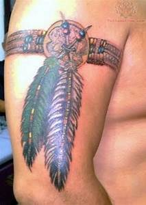 native arm band tattoo...except with a dream catcher ...