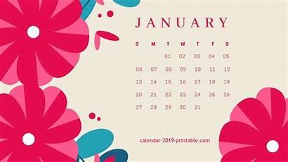 Calendar January Wallpapers Desktop Flower Computer Backgrounds