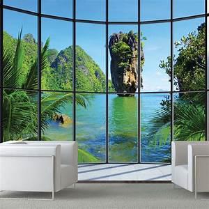 1Wall Thailand Window View Giant Wallpaper Mural