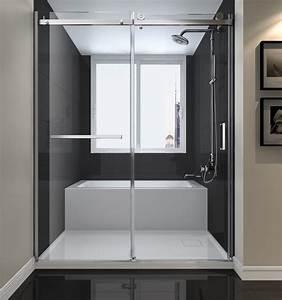 plomberie demers With porte de douche coulissante avec lavabo salle de bain 2 robinets