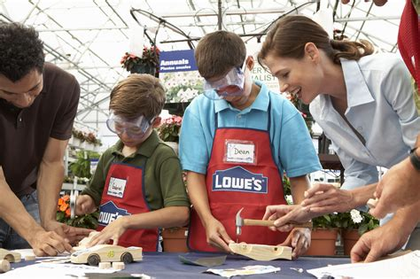 lowes workshop free kids workshops and clinics at lowes and home depot des moines parent