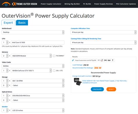 best pc power supply calculator tools to find right psu