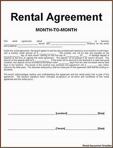 8 simple rental agreement form printable receipt for Free simple lease agreement
