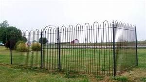 6 U0026 39  Tall Wrought Iron Fence Panel