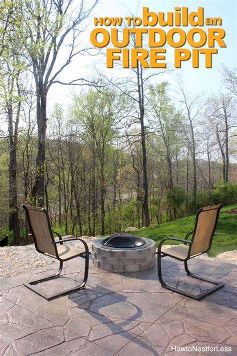 How to Build a Patio Firepit - How to Nest for Less™