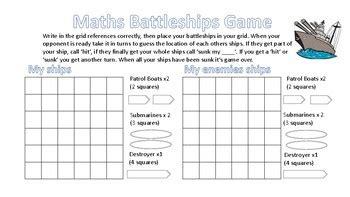 battleship grid references game  aussie teacher  hoff