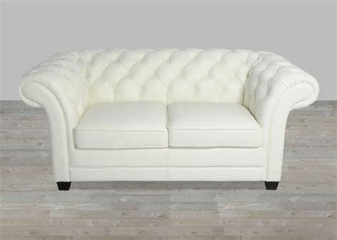 Tufted Loveseats by White Leather Collection Split Loveseat
