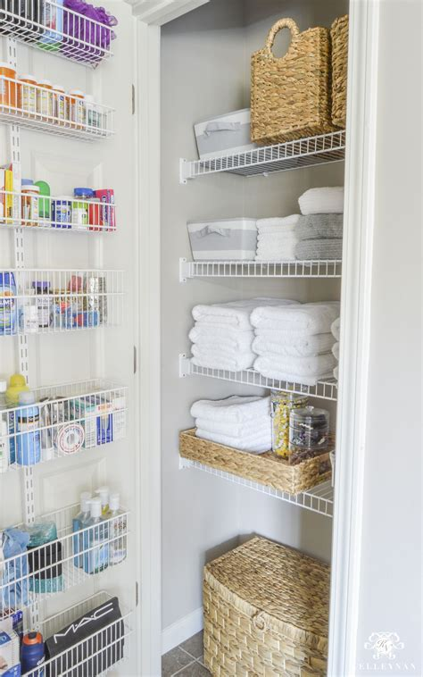 bathroom linen closet ideas organized bathroom linen closet anyone can kelley