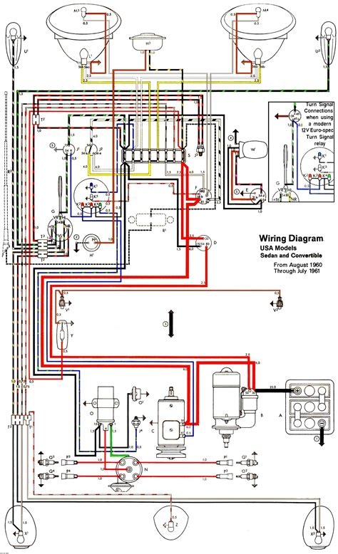 1973 Vw Beetle Light Wiring Diagram Taillight by Thesamba Type 1 Wiring Diagrams