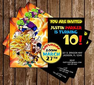 novel concept designs dragon ball z anime birthday With dragon ball z wedding invitations