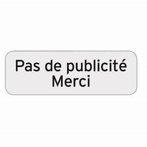 Pas De Pub Merci : plaquette indicatrice pas de publicit merci chapuis ~ Dailycaller-alerts.com Idées de Décoration