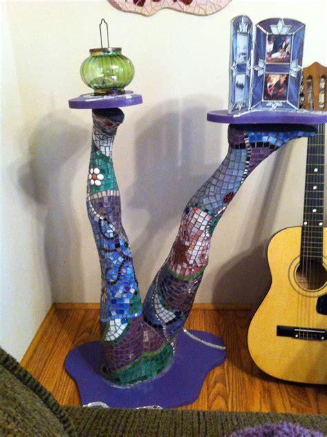 mosaic table   mannequin girls  legs