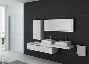 meuble salle de bain ref dis9551b With meuble salle de bain ondine