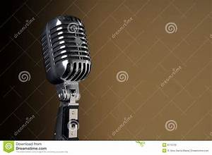 Vintage Microphone Over Gradient Background Stock ...