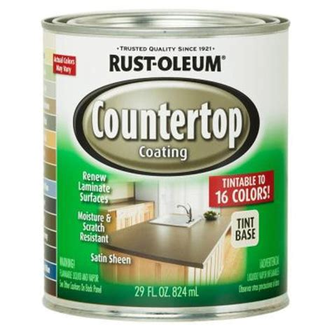 Cabinet Refinishing Kit Home Depot by Rust Oleum Specialty 1 Qt Countertop Tintbase Kit 246068