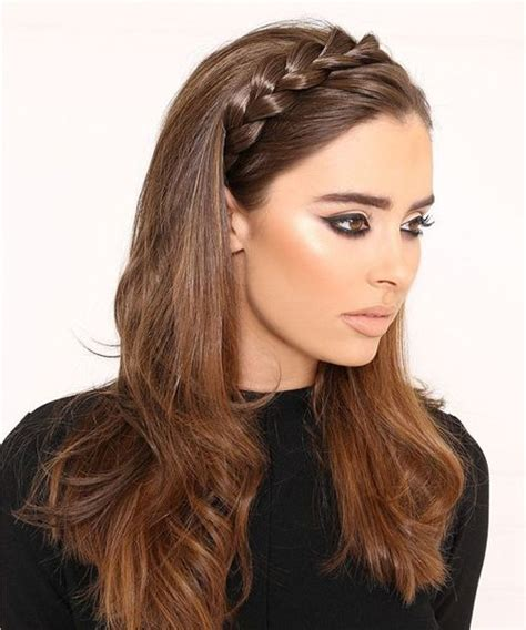 super cute braided headband hairstyles