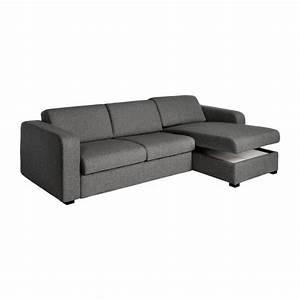 Porto 3 canape lit 2 places en tissu avec angle for Tapis exterieur avec habitat canapé 2 places