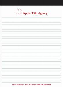 letter pads custom imprinted letter pads legal pads With custom letter pads