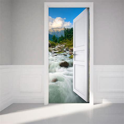 porte torrent sticker porte ouverte torrent dans la montagne stickers