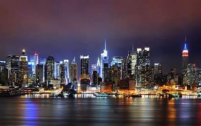 Night Wallpapers Glow Backgrounds Cities York Desktop