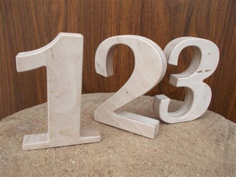how to make numbers for wedding reception wooden numbers rustic wedding decor on com rustic