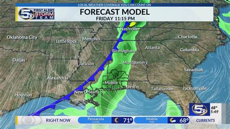 front arrives  weekend wkrg news