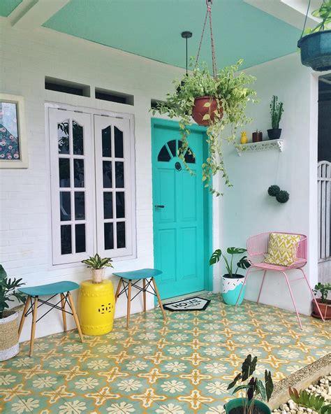 warna keramik lantai  cantik desain rumah minimalis