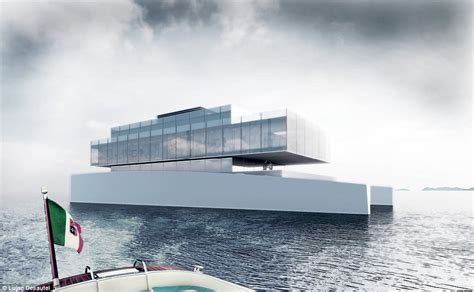 square foot glass mega yacht inspired