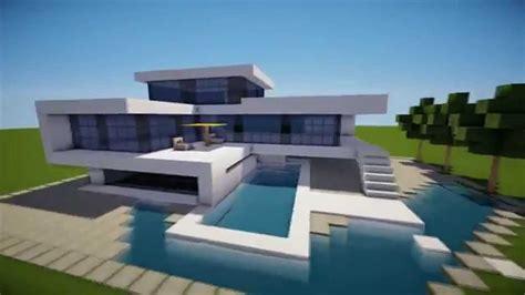 minecraft   build  modern house  modern house   hd tutorial youtube