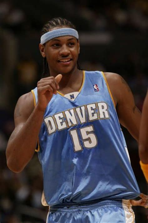 lot detail   carmelo anthony game worn  signed rookie denver nuggets jersey mears