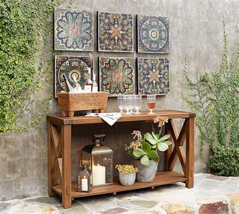 pottery barn metal wall decor 25 best ideas about outdoor wall on patio
