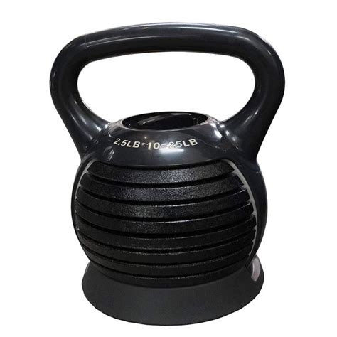 kettlebell adjustable cast iron weight body training workout strength use fitness weights gear 25lbs dazone portable walmart equipment kettlebells exercise