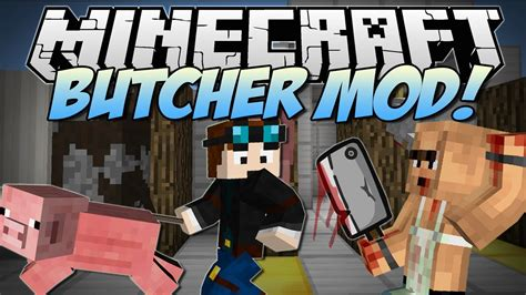 minecraft butcher meat hooks cleavers barbecues