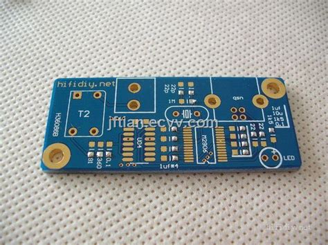 Double Sided Printed Circuit Board Blue Solder Mask