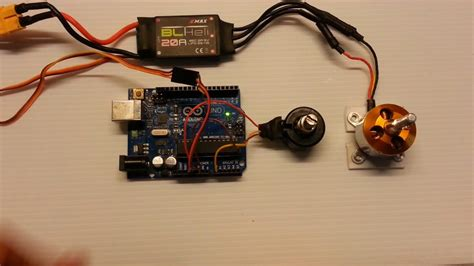 brushless motor using arduino