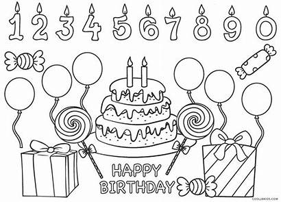Coloring Birthday Happy Pages Printable Sheets Printables
