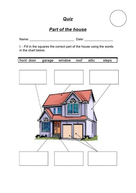 parts of a house quiz parts of the house i