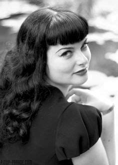 1950s Hairstyles With Bangs 1950s hairstyle with curls and bangs pin up hair