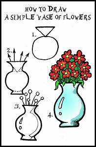 DARYL HOBSON ARTWORK: How To Draw A Vase Of Flowers Step ...