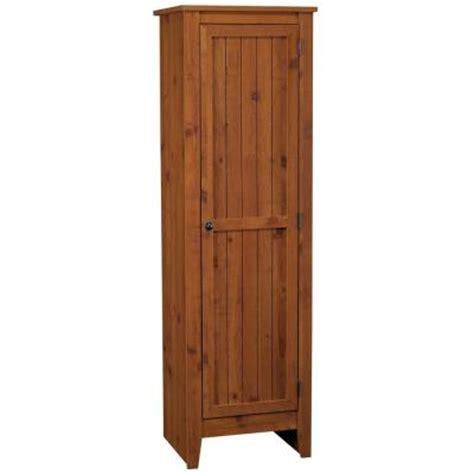 ameriwood single door pantry in old fashion pine 7303028