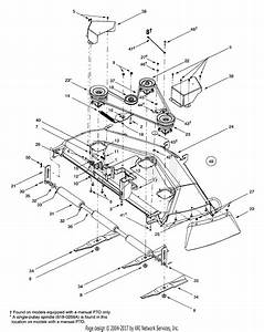 Mtd 14ar807p131  2001  Parts Diagram For Deck Assembly P