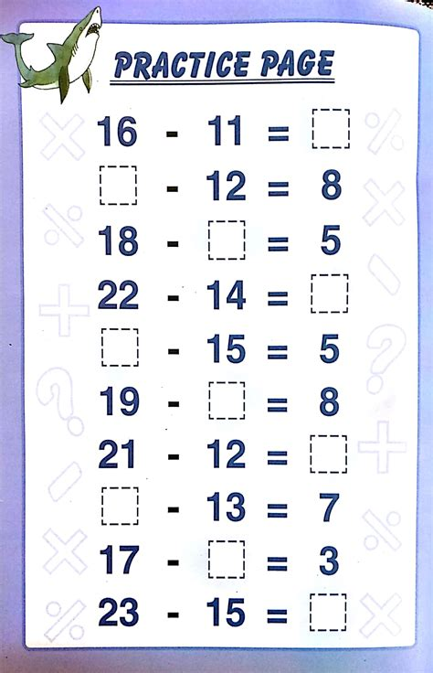 pdf free printable subtraction worksheets 1st grade for