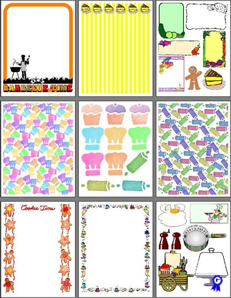 scrapbooking cuisine food recipe scrapbook pages to print for heritage recipe